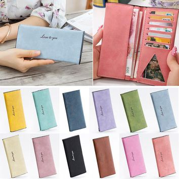 2017 Women Fashion Purse Big Capacity Long Wallets PU Leather Clutch Bags Cards Holder Wallet LT88