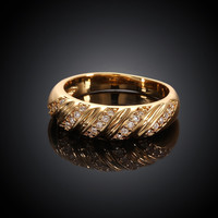 Twill Shape Gold Plated Ring