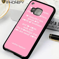 Audrey Hepburn Quote Pink Eye HTC One M9 Case|iPhonefy