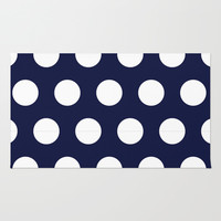 Navy Dots Rug by Ashley Hillman