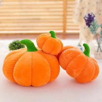 Large Pumpkin Plush Stuffed Doll Halloween Decorations Baby Pumpkin Doll Plush Cushion Bed Pillow Kids Gifts 18/30/40cm
