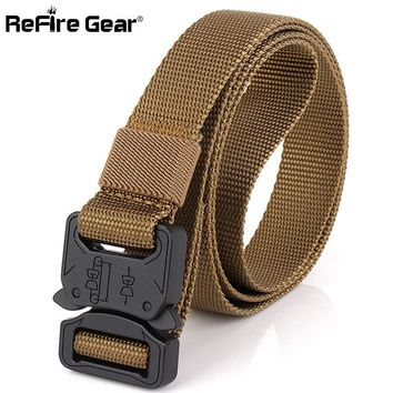 SWAT Combat Safety Knock Off Tactical Belt Men Military Equipment Heavy Duty RU US Army Belts Metal Buckle Nylon Waistband 2.5cm