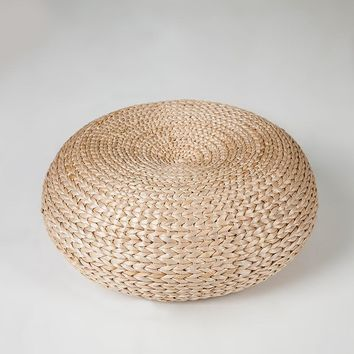 Free Shipping - Hand made Traditional rattan Yoga mediation Floor cushion/mat/low Ottoman/seat - High in demand