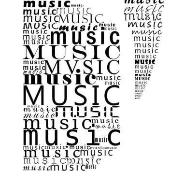Headphone art Typographic print Music art Music print Instant download Gift for music lover Living room decor Black and white print