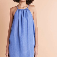 BDG Chambray Crew Neck Shift Dress - Urban Outfitters