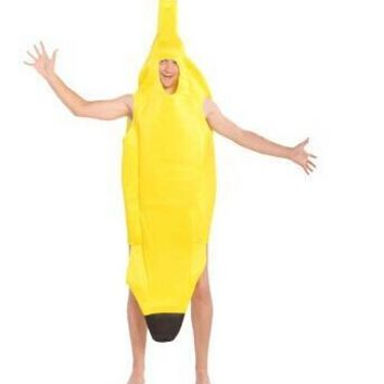 Fun Adult Banana Body Suit Costume Unisex Outfit One Size Fits Most Fancy Dress CO49152164