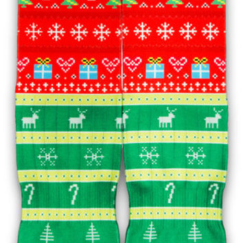 Ugly Christmas Sweater CES Custom Socks