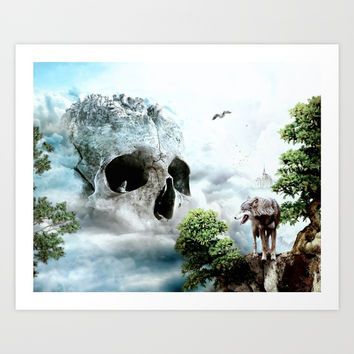Cloudy Path Art Print by RIZA PEKER