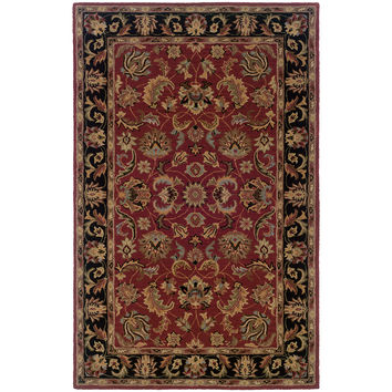 Oriental Weavers Windsor 23102 Red/Black Oriental Area Rug