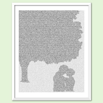 Jane Eyre - Text Art Print - Chestnut Tree - Free AU Shipping
