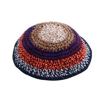 C KNITTED KIPPAH 15 CM- COLORFUL SPOTS