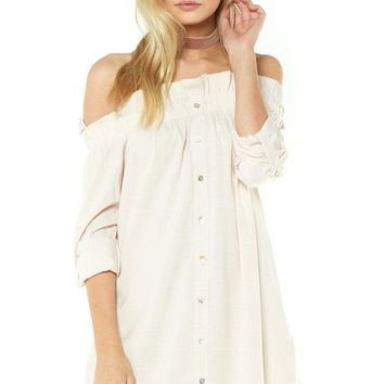 Horizon Off Shoulder Dress