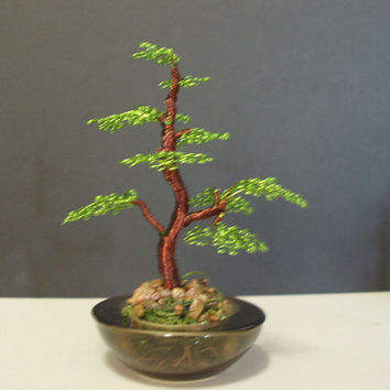 Bonsai Wire Art Tree Sculpture  001