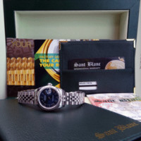 ROLEX White Gold & Stainless Datejust Blue Roman Jubilee Band 179174 SANT BLANC
