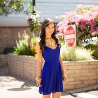 Diana Dress in Royal by Coveted Clothing