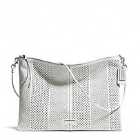 BLEECKER DAILY SHOULDER BAG IN PERFORATED LEATHER