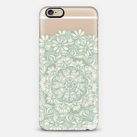 Sage Medallion with Butterflies & Daisy Chains - transparent iPhone 6 case by Micklyn Le Feuvre | Casetify