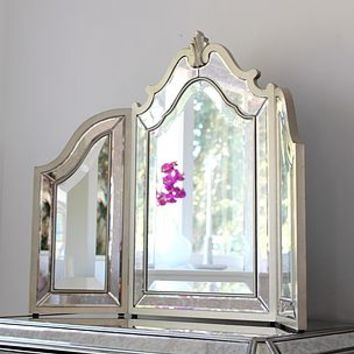Silver Trimmed Venetian Table Mirror