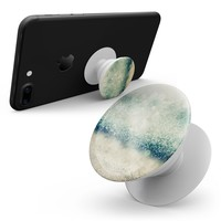 Teal and Gold Unfocused Orbs of Light - Smartphone Extendable Grip & Stand Skin Kit
