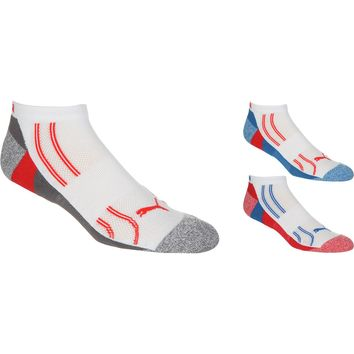 Puma Extended Terry Toe & Heel Sock - 3-Pack - Men's White/Red, 10.0-13.0