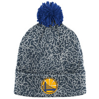 Golden State Warriors Mitchell & Ness Crack Pattern Cuffed Knit Hat – Gray