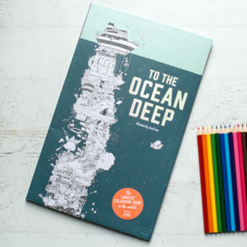 the ocean deep colouring book and crayon set by berylune | notonthehighstreet.com
