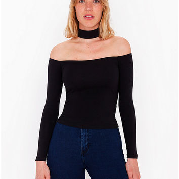 Mid-Length Choker Top | American Apparel