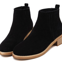 Simple Round Thick Short Martin Boots