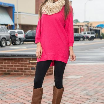 Plain Long Sleeve Sweater Shirt