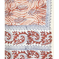 Key to Freedom Silk Sarong Scarf - Rust