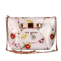 VONEGZ Ted Baker Women Shopping Leather Metal Chain Crossbody Satchel Shoulder Bag