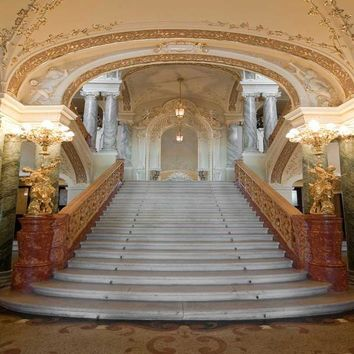 Grand Ballroom Castle Staircase Backdrop - 8X8 - LCPC325 - LAST CALL