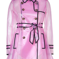 RED Valentino - Clear Petunia Raincoat