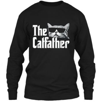 The Catfather  Funny Gift  for Cat Daddy LS Ultra Cotton Tshirt