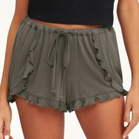 Birdie Charcoal Grey Drawstring Shorts