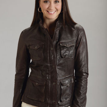 Stetson Ladies  Outerwear Jacket Zipper Closure - 2 Pocket