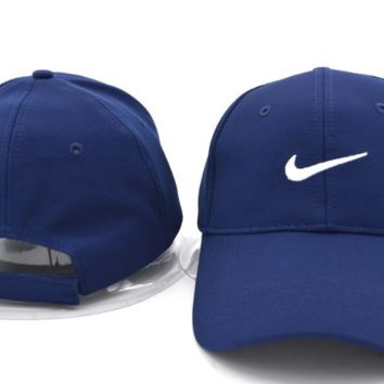 The New NIKE Embroidery Navy Blue Sport Outdoor Cotton Baseball Cap Hat