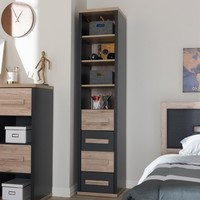 Pandora Modern and Contemporary Two Tone 4 Drawer Storage Cabinet Dark Gray - Baxton Studio