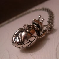 Hunger Games Anatomical Heart Necklace - 3D Human Heart