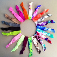 20 Hair Ties-Ponytail Holders Back To School Collection by Elastic Hair Bandz on Etsy