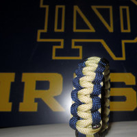 Fighting Irish Survival Strap Notre Dame Paracord Bracelet Custom Sized Wristband