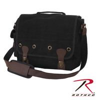 Rothco Vintage Canvas Trailblazer Laptop Bag - Black
