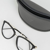 Emporio Armani optical frames with demo lenses at asos.com