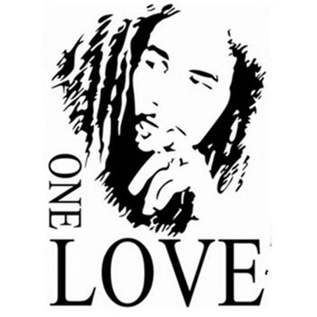 Bob Marley Emoji Wall Stickers Quotes One Love English Vinyl Decal Home Decorations For Living Room Vintage Poster