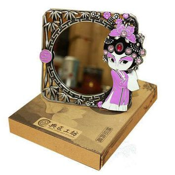 Chinese Style Peking Opera Characters Photo Frame Mirror Dresser Bedroom Makeup Desktop Gift Decoration Mirror Free Shipping