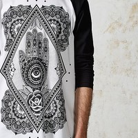 Abandon Ship Mens Hand of God Raglan T-Shirt | ARK