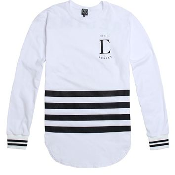 Civil League Long Sleeve Drop T-Shirt - Mens Tee - White