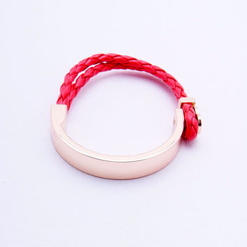 Tie Tight Bracelet - Red/Gold