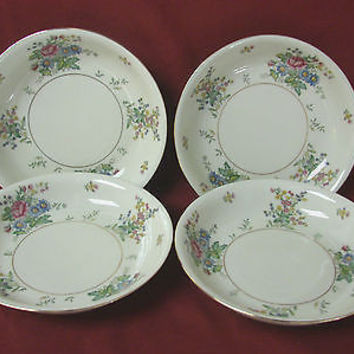 Royal Epiag Czechoslovakia china dinnerware Greta set 4 Coupe soup bowl