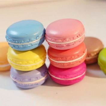 Soft Macaron Key Chain New 1PCS Candy Color Cell Phone Strap Hot Bag Hanger Cute Fruit Squishy Charms Bag Parts & Accessories